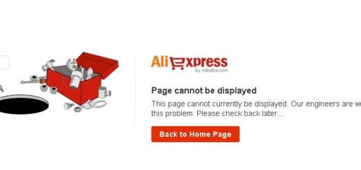 Aliexpress page cannot be displayed