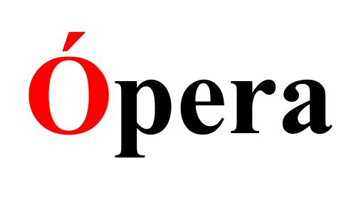 Ударение в слове Опера